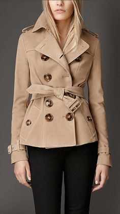 Calf Suede Trench Jacket | Burberry