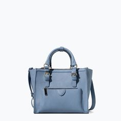 ZARA - SHOES & BAGS - MINI CITY BAG WITH ZIP DETAILS