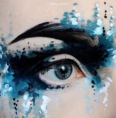 Abstract Splashes, les maquillages artistiques d'Ida Ekman
