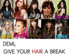 Demi Lovato's Hair!! I love all of them!! (Hate what it says below)