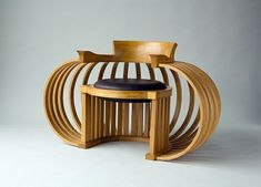 Very cool bentwood chair... Had to be inspired by frank Lloyd wright