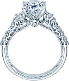Verragio Three Stone Diamond Engagement Ring V-905R