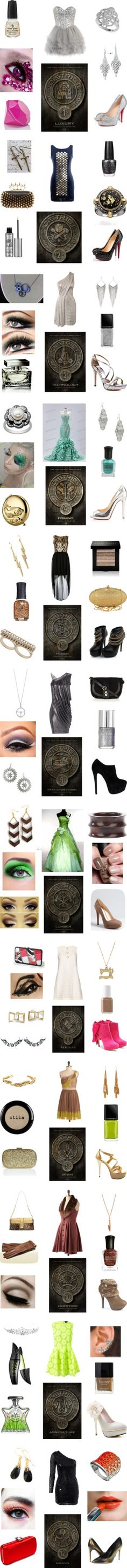 """The Hunger Games District Outfits For The Opening Ceremonies"" by heyitsbecca123 on Polyvore"