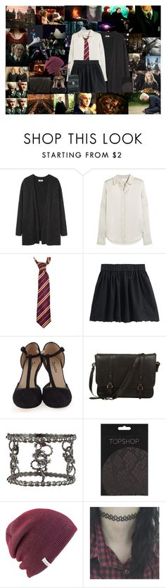 """""""a gryffindor girl in love with slytherin boy #3"""" by semmaos ❤ liked on Polyvore featuring Acne Studios, Chloé, Repetto, Elope, Daines & Hathaway, K Brunini, Topshop and Coal"""