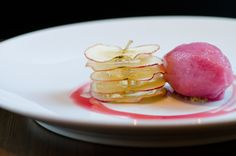 Apple Chips, Cava Jelly, and Muscadine Grape Sorbet