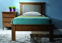 Twin Beds for Kids with Upholstered Headboard