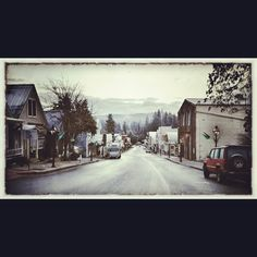 Downtown Nevada City on winter day, photo by Erin Thiem