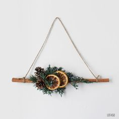 Cinnamon Christmas Wreath, Rustic Farmhouse Winter Holiday Triangle Wreath with Pine Cones and Oranges - Happy Christmas - Noel 2020 ideas-Happy New Year-Christmas Bohemian Christmas, Rustic Christmas, Simple Christmas, Christmas Holidays, Christmas Wreaths, Winter Holiday, Natural Christmas Ornaments, Natural Christmas Decorations, Christmas Pine Cones