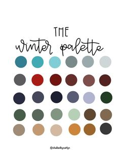 The Winter Procreate Custom Color Palette - iPad - Color Palette- Swatches - Lettering - Brushes by CreateByCaitlyn on Etsy You are in the right place about wedding color palette marsala Here we offer Colour Pallette, Color Combos, Color Schemes, Design Seeds, Colours That Go Together, Ipad, Winter Colors, Winter Color Palettes, Colour Board