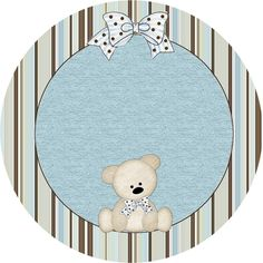 Teddy Bear Family, Toppers or Free Printable Candy Bar Labels. Baby Boy Scrapbook, Scrapbook Bebe, Clipart Baby, Baby Shower Parties, Baby Boy Shower, Instalation Art, Oh My Fiesta, Baby Shower Cupcake Toppers, Banner