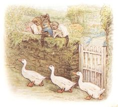 Three Ducks by Beatrix Potter by jawood