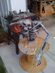 pirate ships wheel before paint styrofoam Halloween prop ...