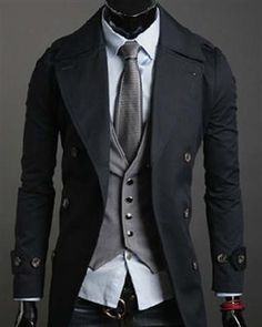 Fashion Cotton Dumdown Double Breasted Mens Coats