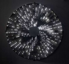 Leo Villareal (American, b. 1967), Star, 2008. LEDs, transformers and electric circuitry, 100 in. diameter. via