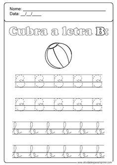 Alphabet Worksheets, Kindergarten Worksheets, Preschool Activities, Handwriting Practice, Cursive, Kids Education, Calligraphy, Homeschooling, Letter B Activities