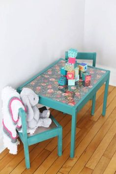 21 Pretty DIY Chalkboard Tables For Any Purposes