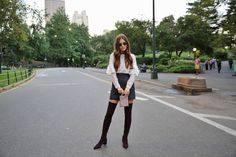How to Wear Thigh-High Boots this Fall | Blank Itinerary