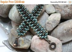 Veterans Day Sale Petite Superduo Band by ReggiesCreations on Etsy