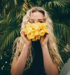 beauty, blonde, curly, fashion, flowers