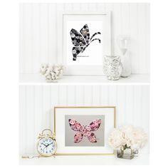 Button Art Butterflies www.facebook.com/bellepapiers