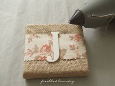 I want to do this with burlap, red fabric and white glitter letters.  The possibilities are endless!