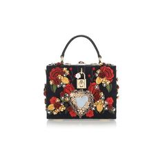 Dolce & Gabbana Sacred Heart And Carnation Embroidered Box Bag ($6,995) ❤ liked on Polyvore featuring bags, handbags, purses, queen of hearts, heart purse, heart shaped purse, flower handbags, flower purse and embellished handbags