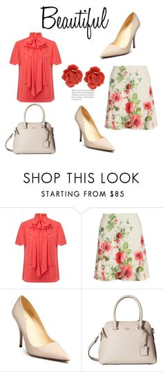 """""""486"""" by meldiana ❤ liked on Polyvore featuring Somerset by Alice Temperley, Zenobia, Kate Spade and Oscar de la Renta"""