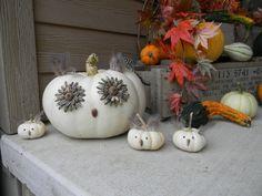 DIY Owl Pumpkin Family | DIYNetwork.com