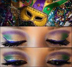 Mardi Gras make-up!
