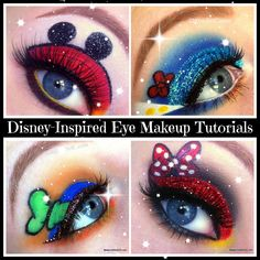 Show Your #DisneySide with these Mickey, Minnie and Friends Makeup Tutorials. SOOO CUTE. If I could I would do this