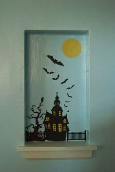 Halloween Scene out of card stock