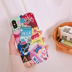 Iphone 8 Plus, Iphone 7, Iphone Phone Cases, Phone Covers, Food Phone Cases, Kawaii Phone Case, Strawberry Milk, Kawaii Shop, Cute Cases