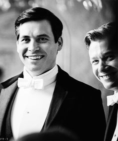 Rob James-Collier and Ed Speleers behind the scenes of Downton Abbey | Jimmy Kent and Thomas Barrow