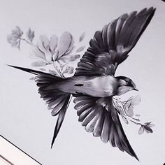 Bird tattoo design Hirondelles Sparrow tattoo, Tattoo trends bird tattoo designs - Tattoos And Body Art Trendy Tattoos, Unique Tattoos, Small Tattoos, Cool Tattoos, Gorgeous Tattoos, Silhouette Tattoos, Body Art Tattoos, Sleeve Tattoos, Gun Tattoos