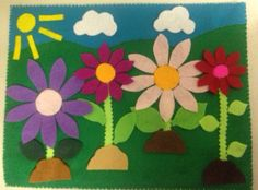 In the garden  Fuzzy felts by HeartFeltCraft1 on Etsy, £3.00