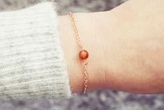 Sardonyx Bracelet | Single Bead Bracelet | Rose Gold Bracelet | Healing Bracelet Handmade Bracelets, Beaded Bracelets, Jade Bracelet, Healing Bracelets, Men Necklace, Anklet, Swarovski Crystals, Rose Gold, Gemstones