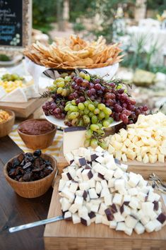 Fruit and Cheese (cheese party platters antipasto) Party Platters, Food Platters, Cheese Platters, Antipasto, Cheese Table, Cheese Bar, Cheese Fruit, Cheese Tasting, Buffet Dessert
