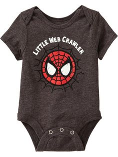 "Old Navy | Marvel Spiderman  ""Little Web Crawler"" Bodysuits for Baby"