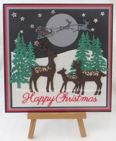 Tinyrose's Craft Room: Christmas in the Forest made with Festive dies from Creative Expressions