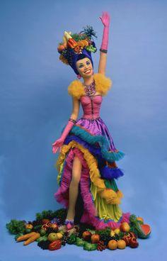 boneca Seussical Costumes, Fancy Costumes, Diy Costumes, Halloween Costumes, Halloween Sewing, Carnival Costumes, Carmen Miranda Kostüm, Havana Nights Party, Goddess Costume
