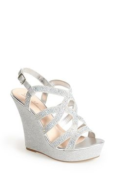 96c3dd3e6abc Free shipping and returns on Lauren Lorraine  Nonie  Crystal Wedge Sandal  (Women)