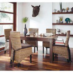 table de salle manger en manguier massif fonc l 160 cm bengali maisons du