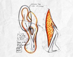 Design sketches for the new Nike HyperVenom Soccer Cleats.