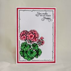 Elizabeth Whisson creation using Geraniums Take Two by Power Poppy -- one of our Power Poppy Peeps of the Week!