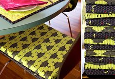 No-Slip Chair Pads with Box Corners | Sew4Home
