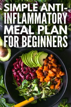 21 Day Anti Inflammatory Diet for Beginners | Looking for an anti-inflammatory meal plan to help boost your immune system and keep your autoimmune disease under control while also helping you to lose weight? We've put together a 21-day meal plan for beginners, complete with breakfast, lunch, dinner, and snack recipes you'll love.