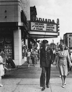 Jimmy Stewart returns home to Indiana, Pennsylvania in 1945 from WWII after twenty combat missions, a Croix de Guerre and the Flying Cross.  Stewart strolls down Indiana's main street with his sister Mary and is soon promptly deluged with autograph seekers.