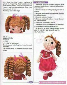 68 Patrones de amigurumi en español Crochet Animal Patterns, Crochet Doll Pattern, Stuffed Animal Patterns, Crochet Animals, Crochet Dolls, Doll Patterns, Crochet Clothes, Crochet Hats, Crochet Round