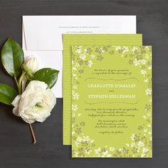 Artful Posy Wedding Invitations by Elli