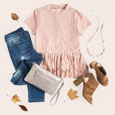 We're blushing over our head-to-toe fall looks! Casual Work Outfits, Retro Outfits, Chic Outfits, Spring Outfits, Fashion Outfits, Classic Outfits, Grunge Outfits, Fasion, Winter Outfits